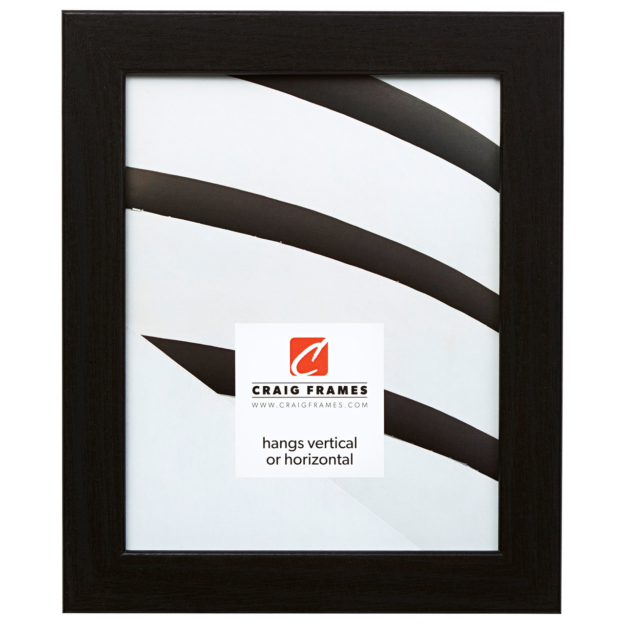 "Bauhaus 125 1.25"", Black Oak Picture Frame"
