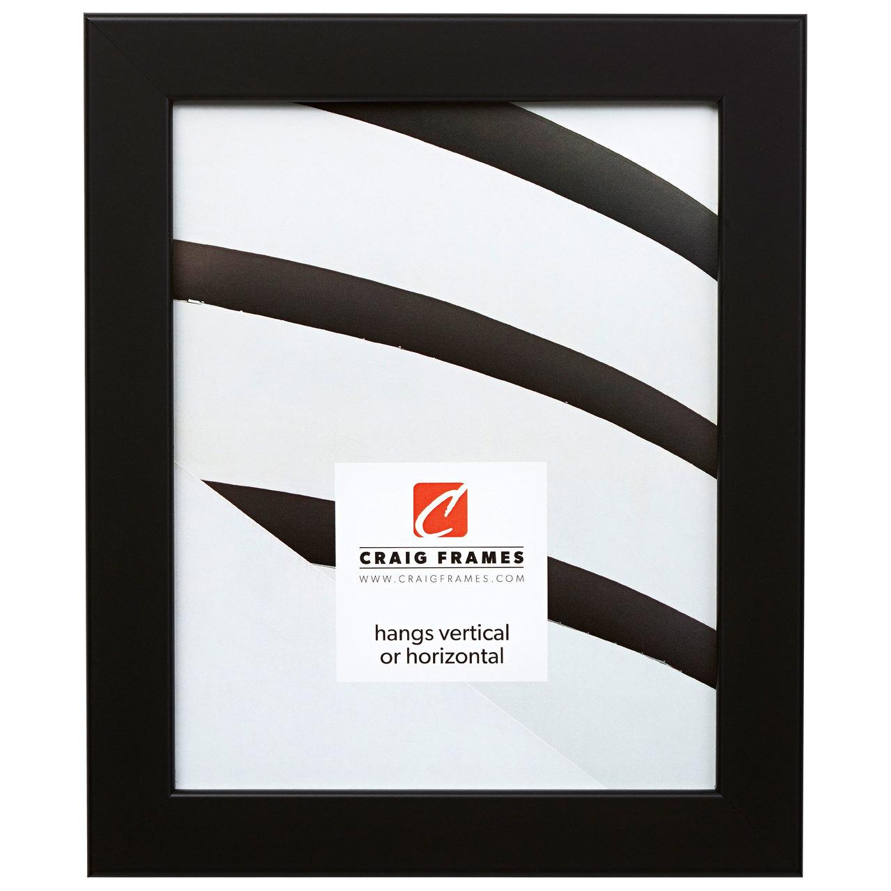 """Bauhaus 125 1.25"""", Black Satin Mica Picture Frame"""