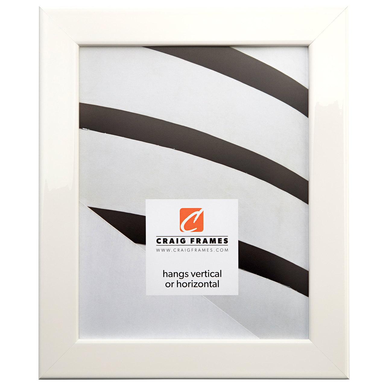 "Bauhaus 125 1.25"", Liquid White Picture Frame"