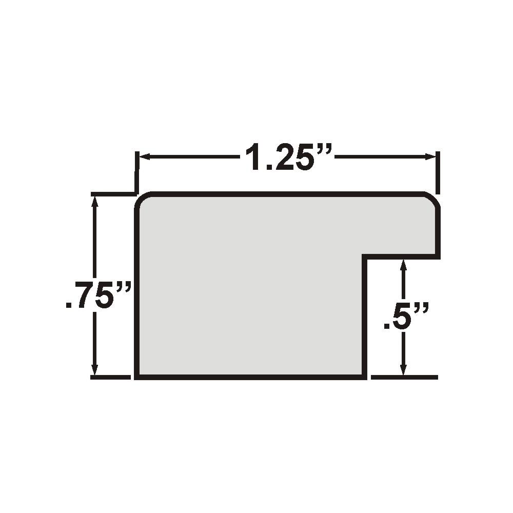 "Bauhaus 125 1.25"", Scratched Black Picture Frame"