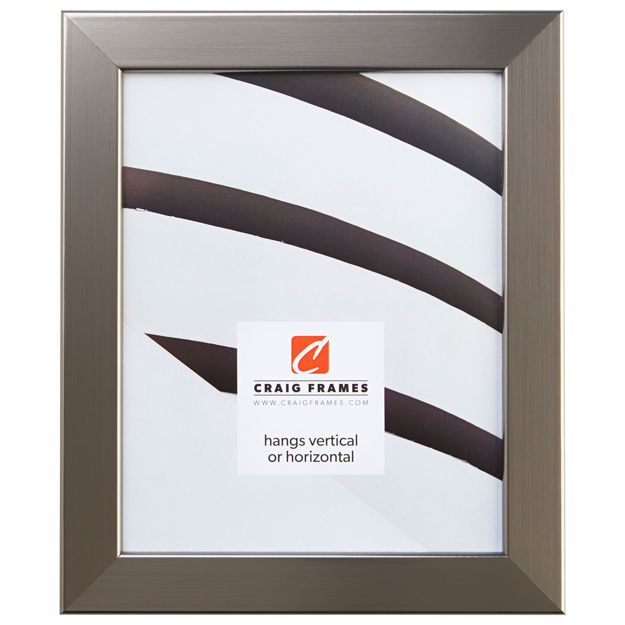 """Bauhaus 125 1.25"""", Stainless Silver Picture Frame"""