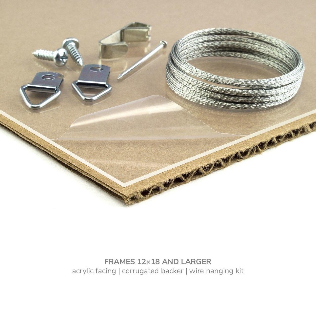 "Bauhaus 125 1.25"", Textured Brown Oak Picture Frame"
