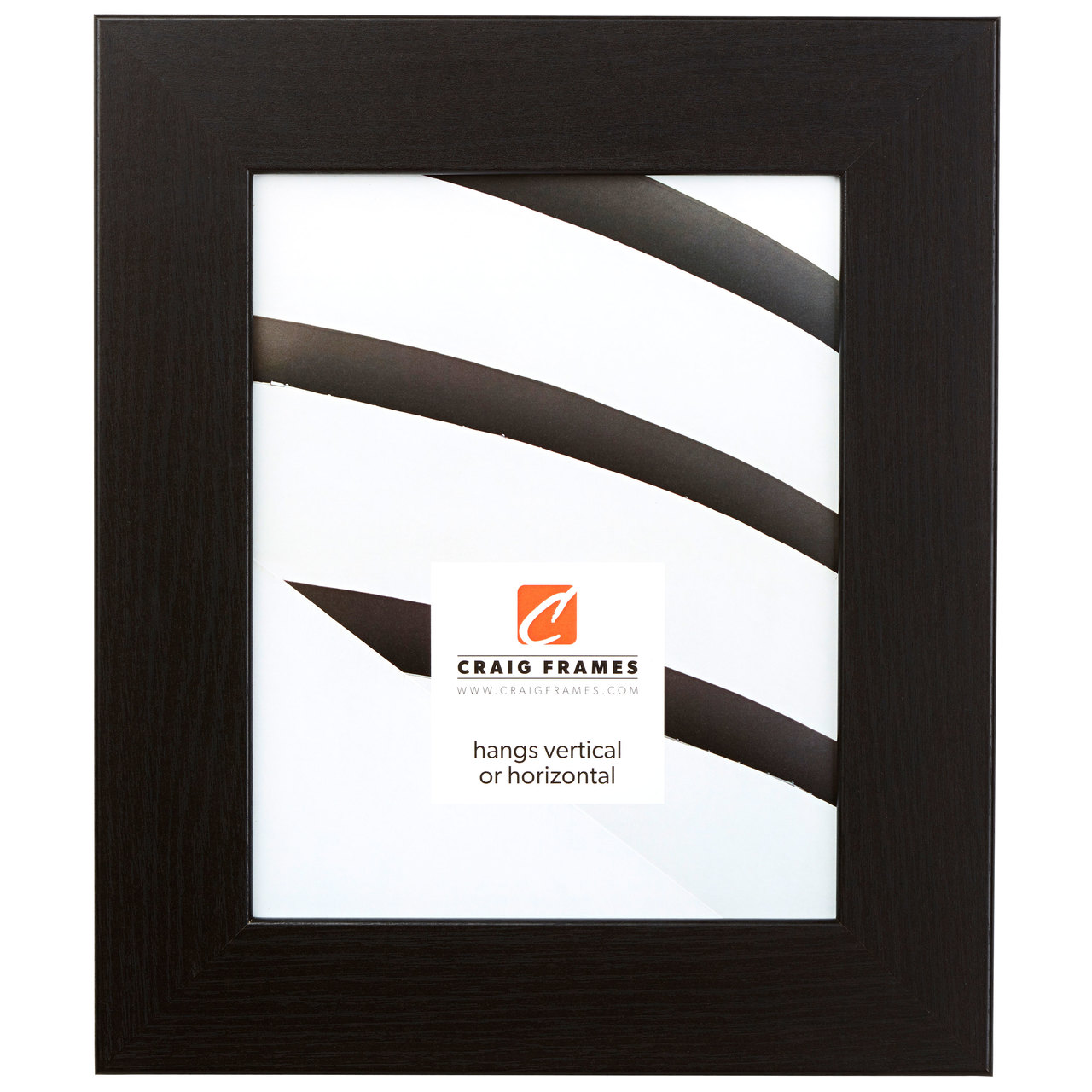 "Bauhaus 2"", Black Oak Picture Frame"