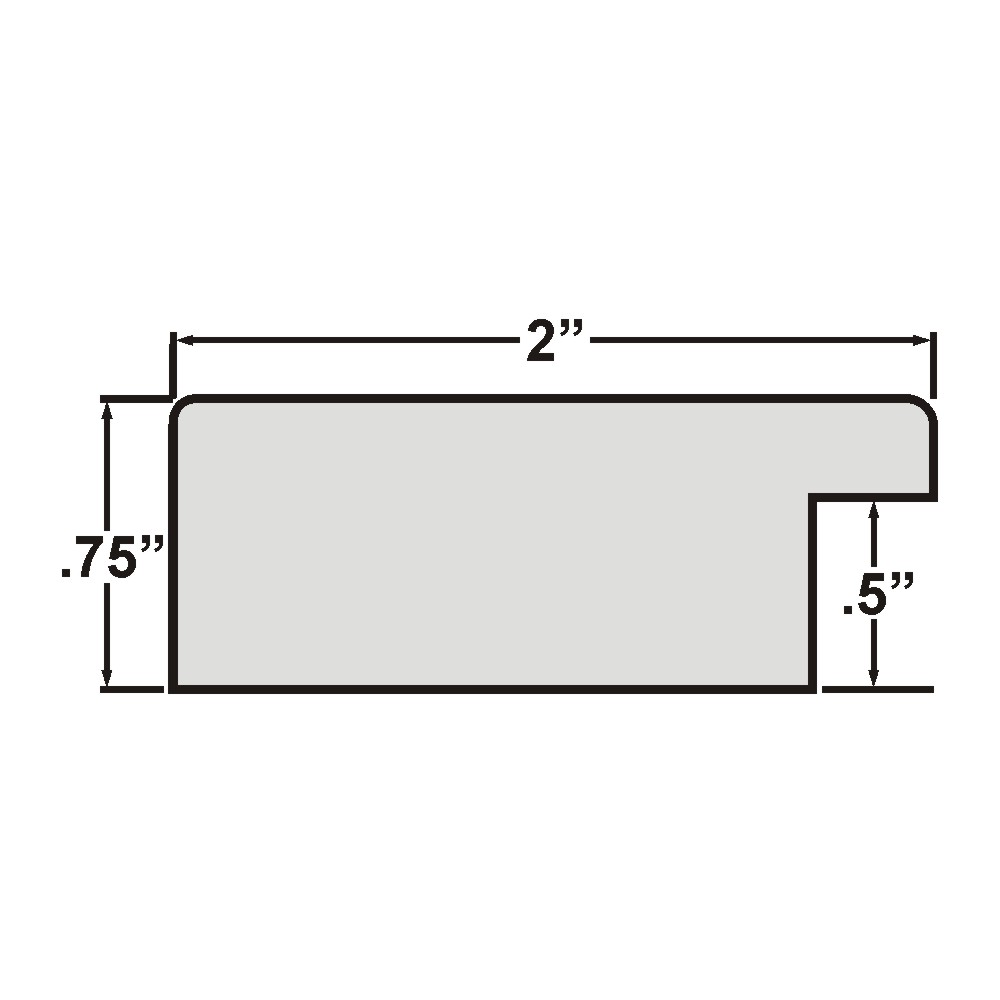 "Bauhaus 200 2"", Liquid White Picture Frame"