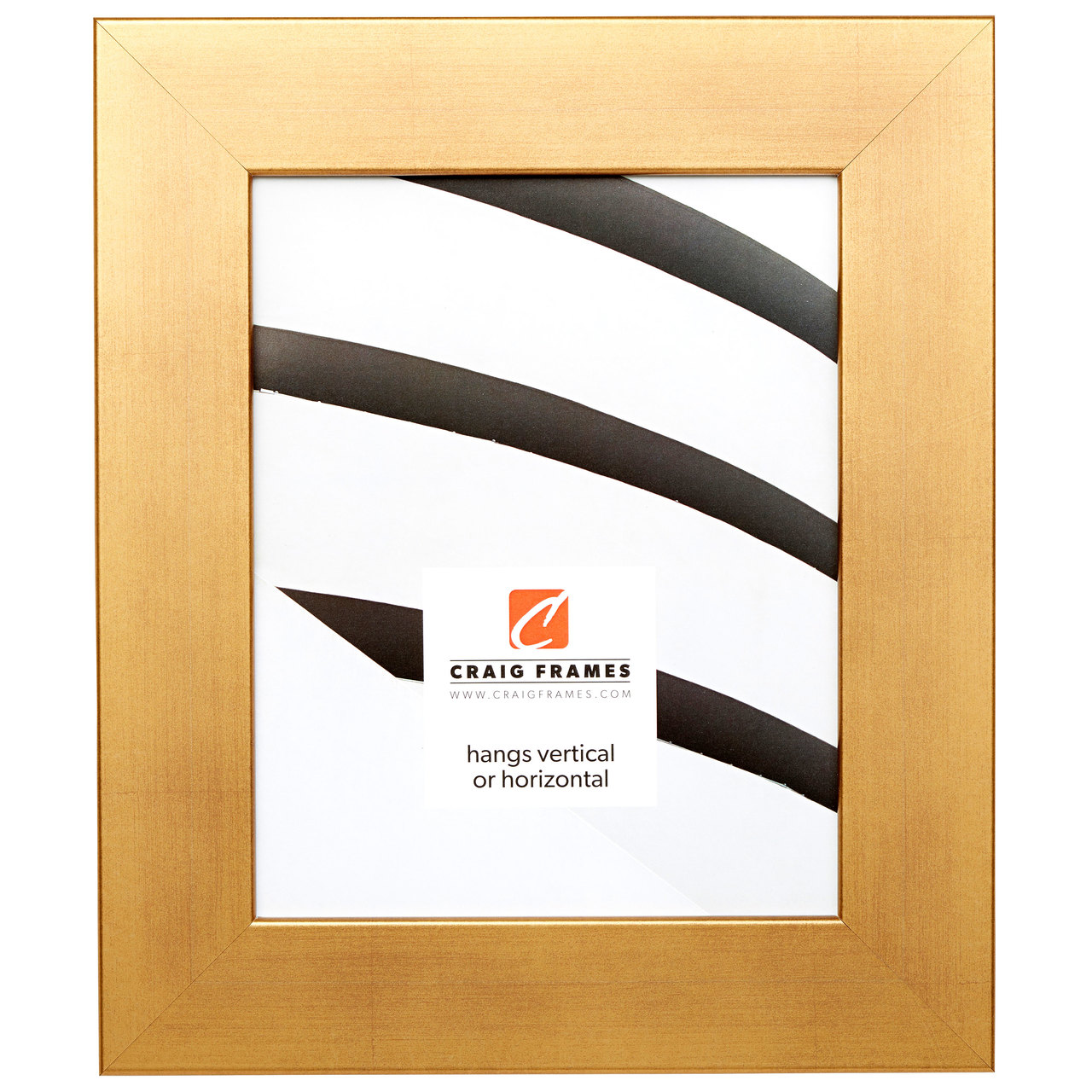 "Bauhaus 2"", Old World Gold Picture Frame"