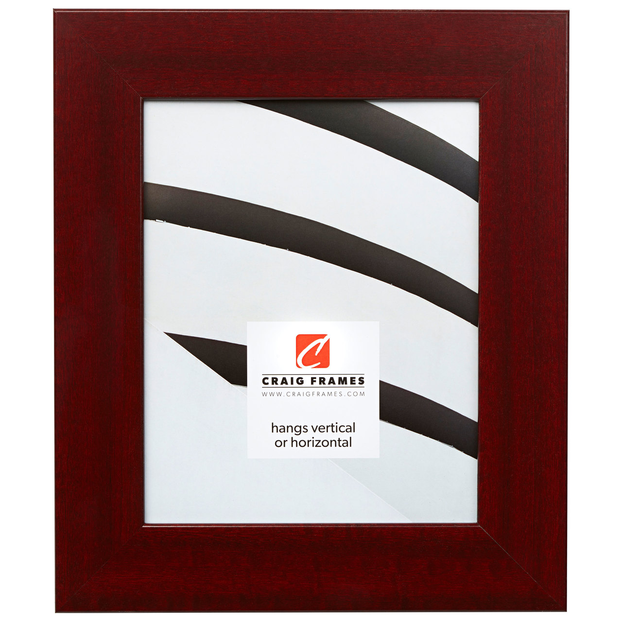 """Bauhaus 200 2"""", Red Mahogany Picture Frame"""
