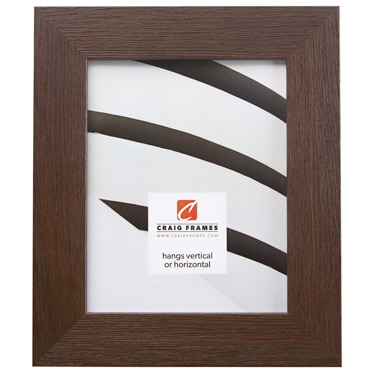 "Bauhaus 200 2"", Textured Brown Oak Picture Frame"