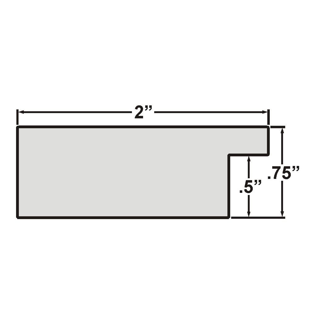 "Bauhaus 200 2"", Textured Gray Oak Picture Frame"