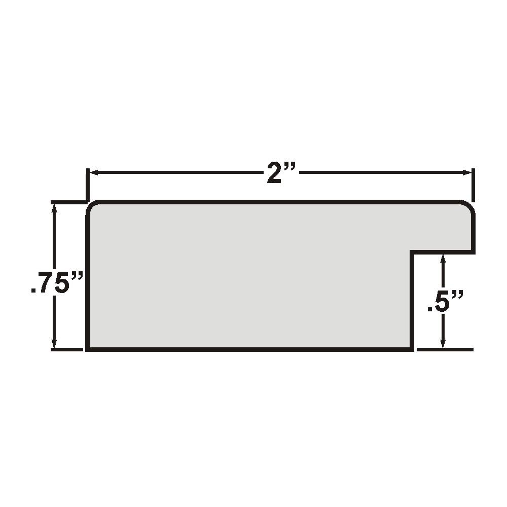 """Bauhaus 200 2"""", White Satin Mica Picture Frame"""