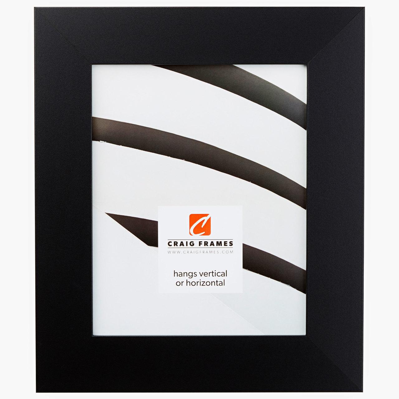 "Bauhaus 200 2"", Mystic Satin Black Picture Frame"