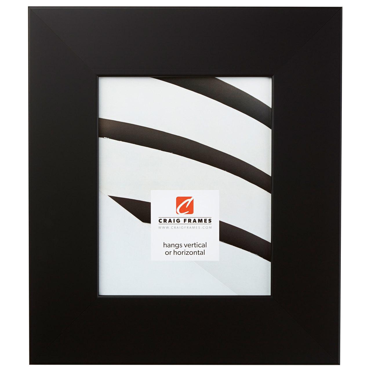 """Bauhaus 300 3"""", Black Satin Mica Picture Frame"""