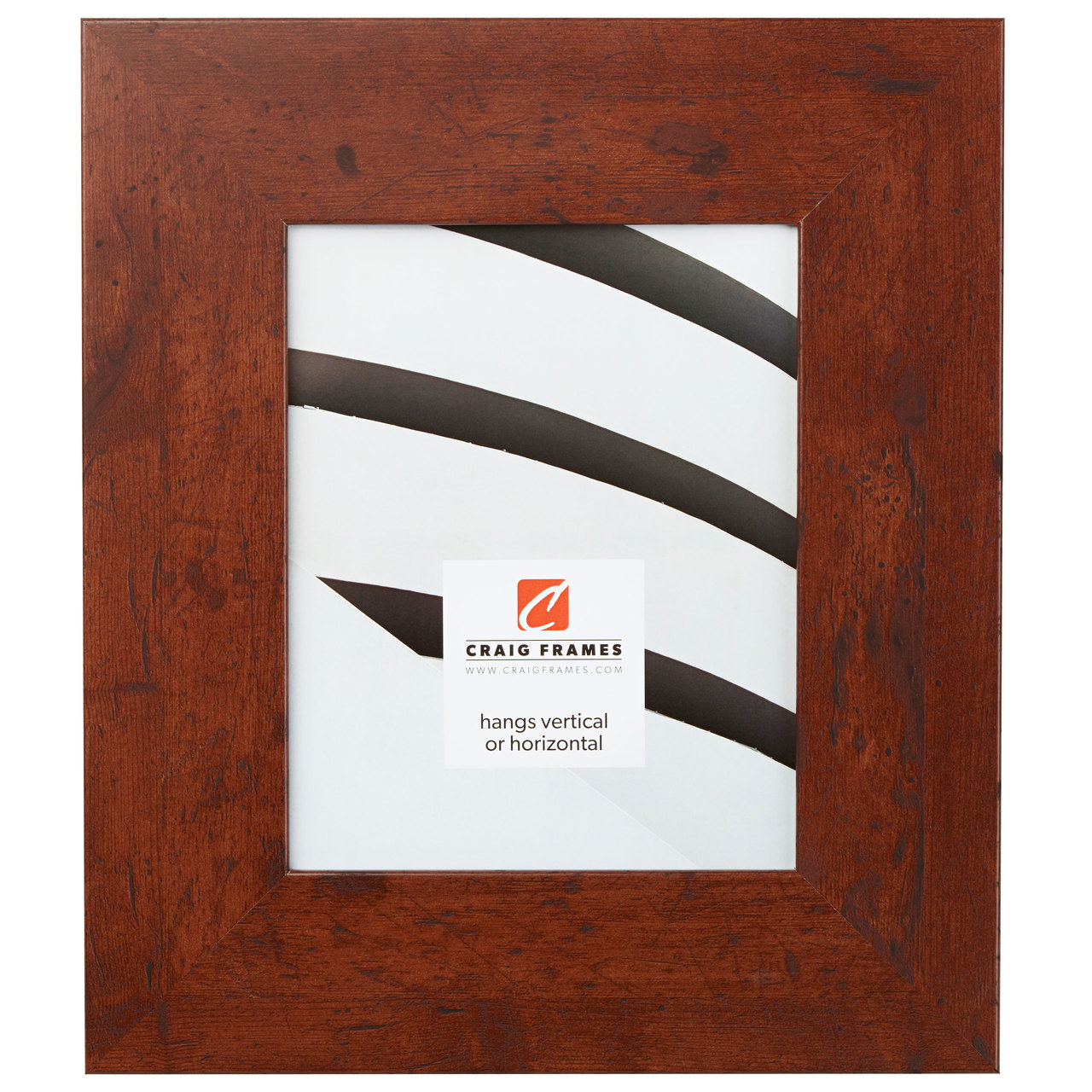 "Bauhaus 300 3"", Dark Walnut Picture Frame"