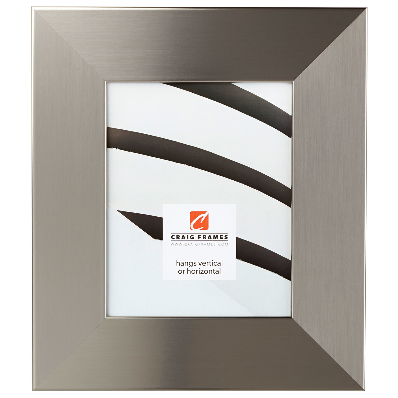 """Bauhaus 300 3"""", Stainless Silver Picture Frame"""