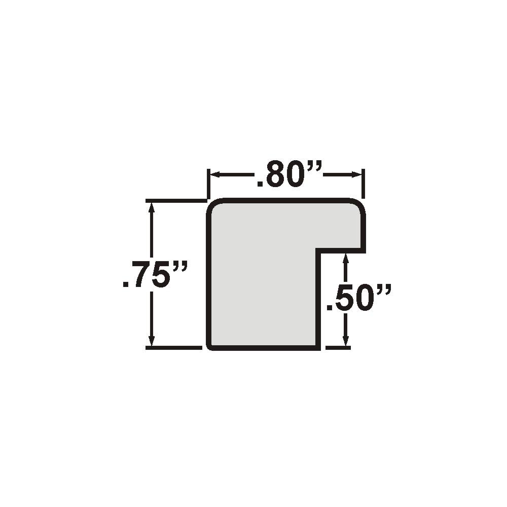 """Bauhaus 0.75"""", Black Satin Mica Picture Frame"""