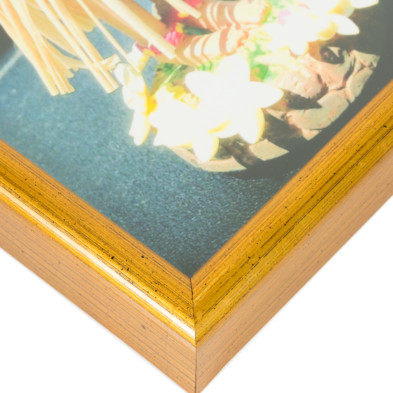 """Bullnose .5"""", Brushed Gold Picture Frame"""