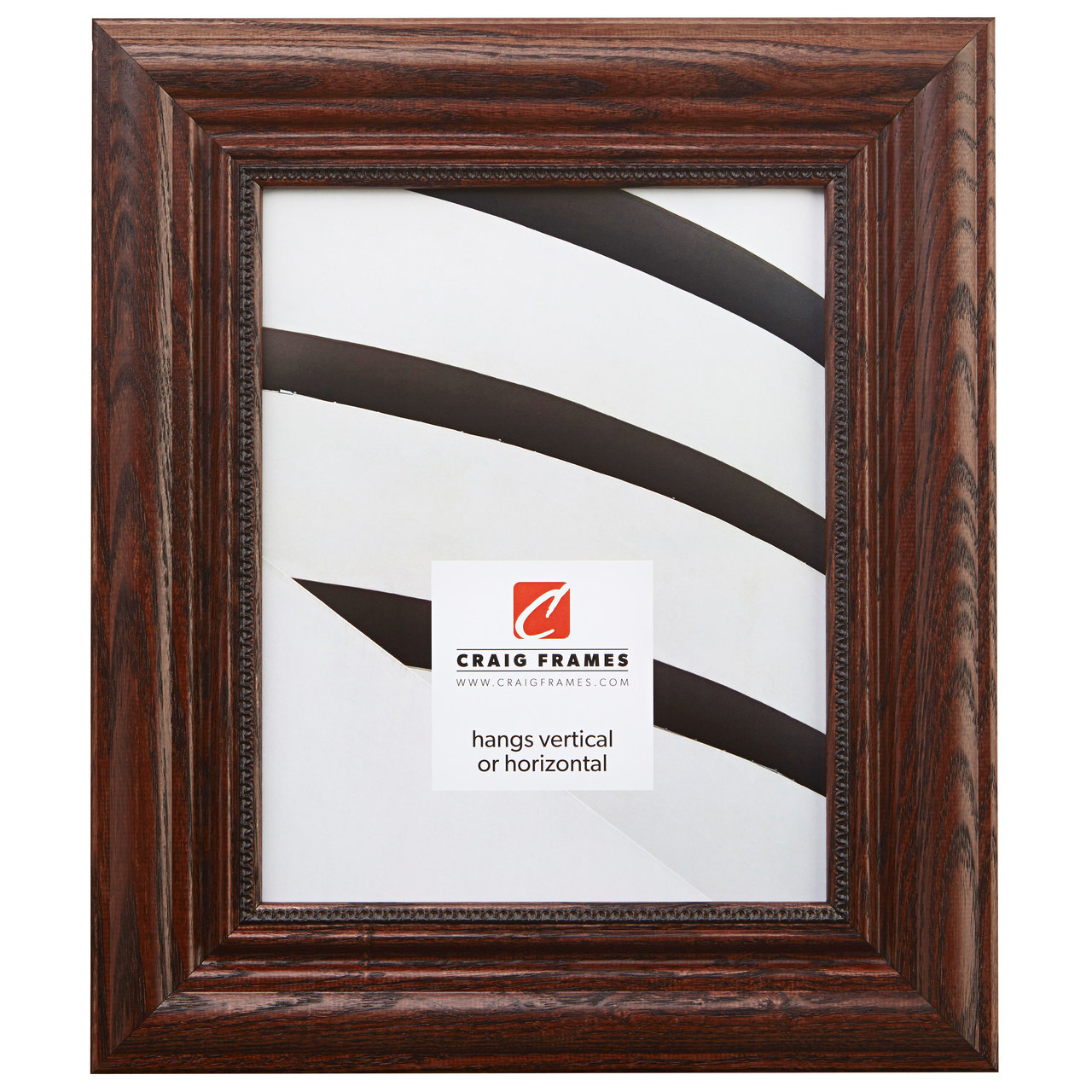 """Colonial Ornate 2.25"""", Walnut Brown Picture Frame"""