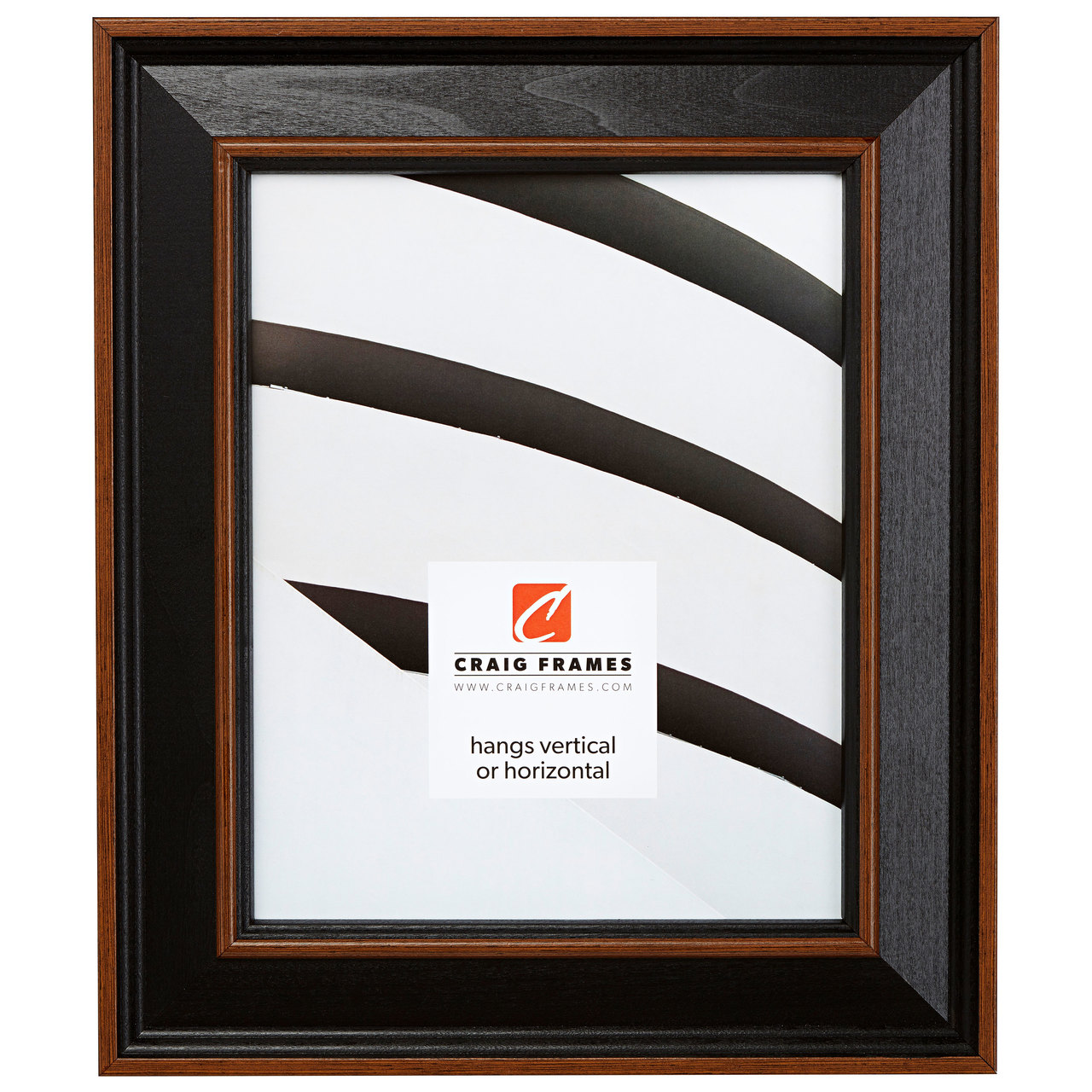 "Country Estate 2"", Black Hardwood Picture Frame"