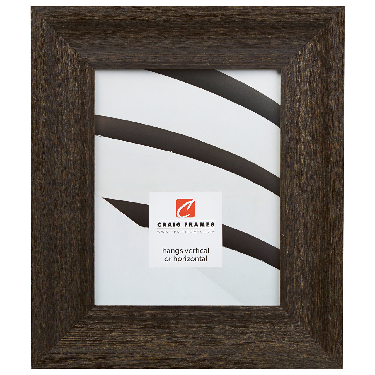 """Driftwood 25 2.5"""", Weathered Black Picture Frame"""
