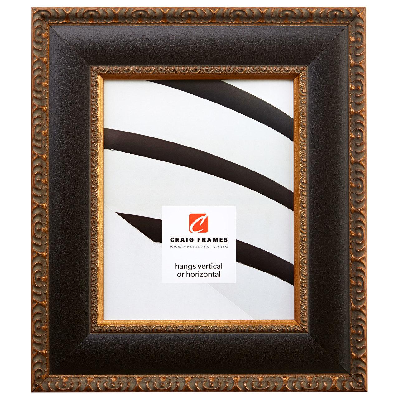 "Galerie W 2.75"", Antique Black & Gold Picture Frame"