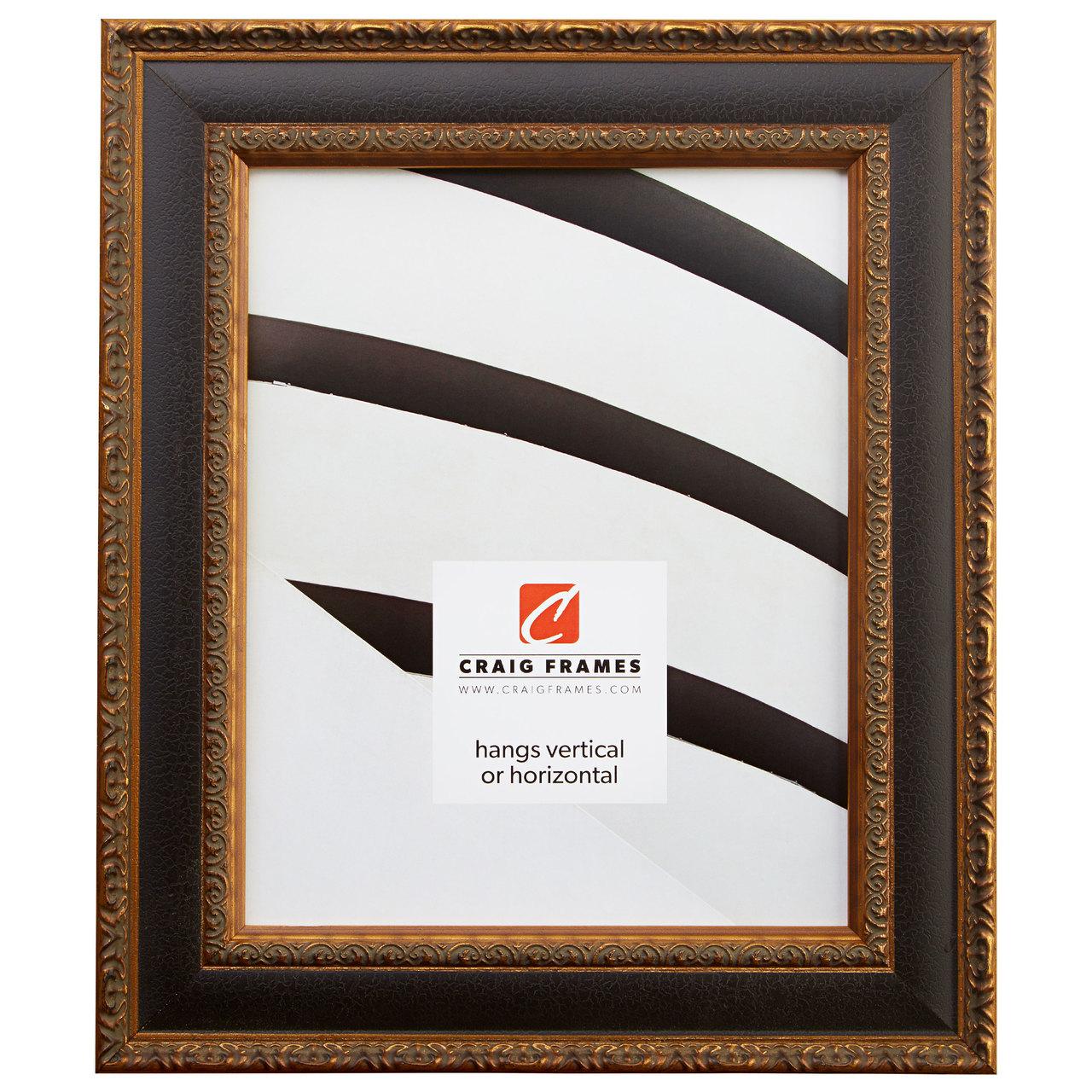 "Galerie 1.75"", Antique Black & Gold Picture Frame"