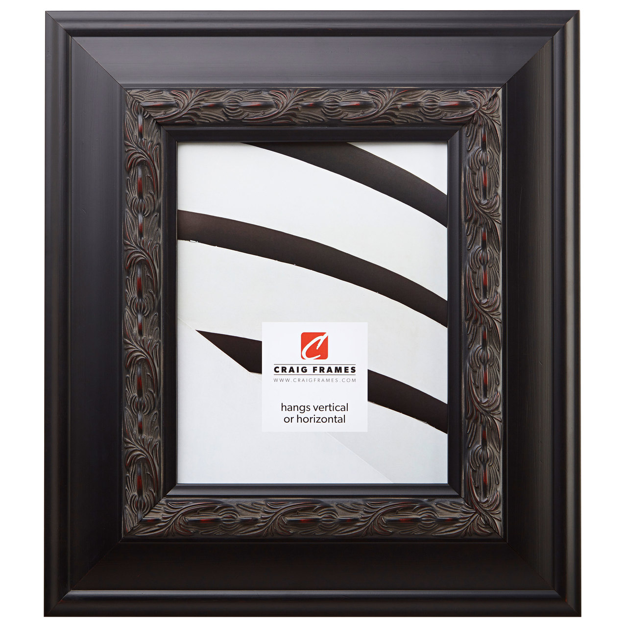 "Gotham 3.5"", Black Walnut Picture Frame"