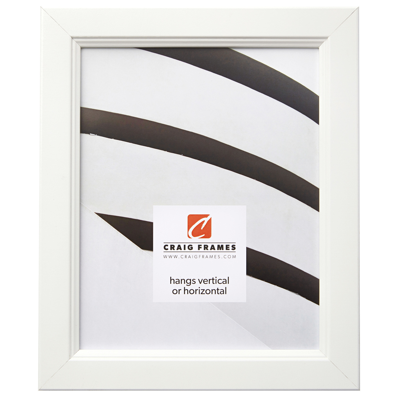 """Mossehaus 1.25"""", White Satin Picture Frame"""