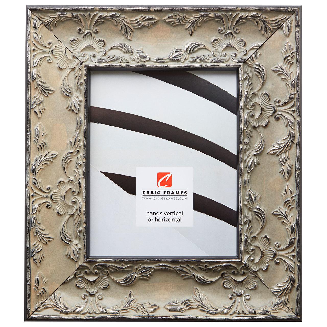 """Renaissance 3.25"""", Antique Pewter Picture Frame"""