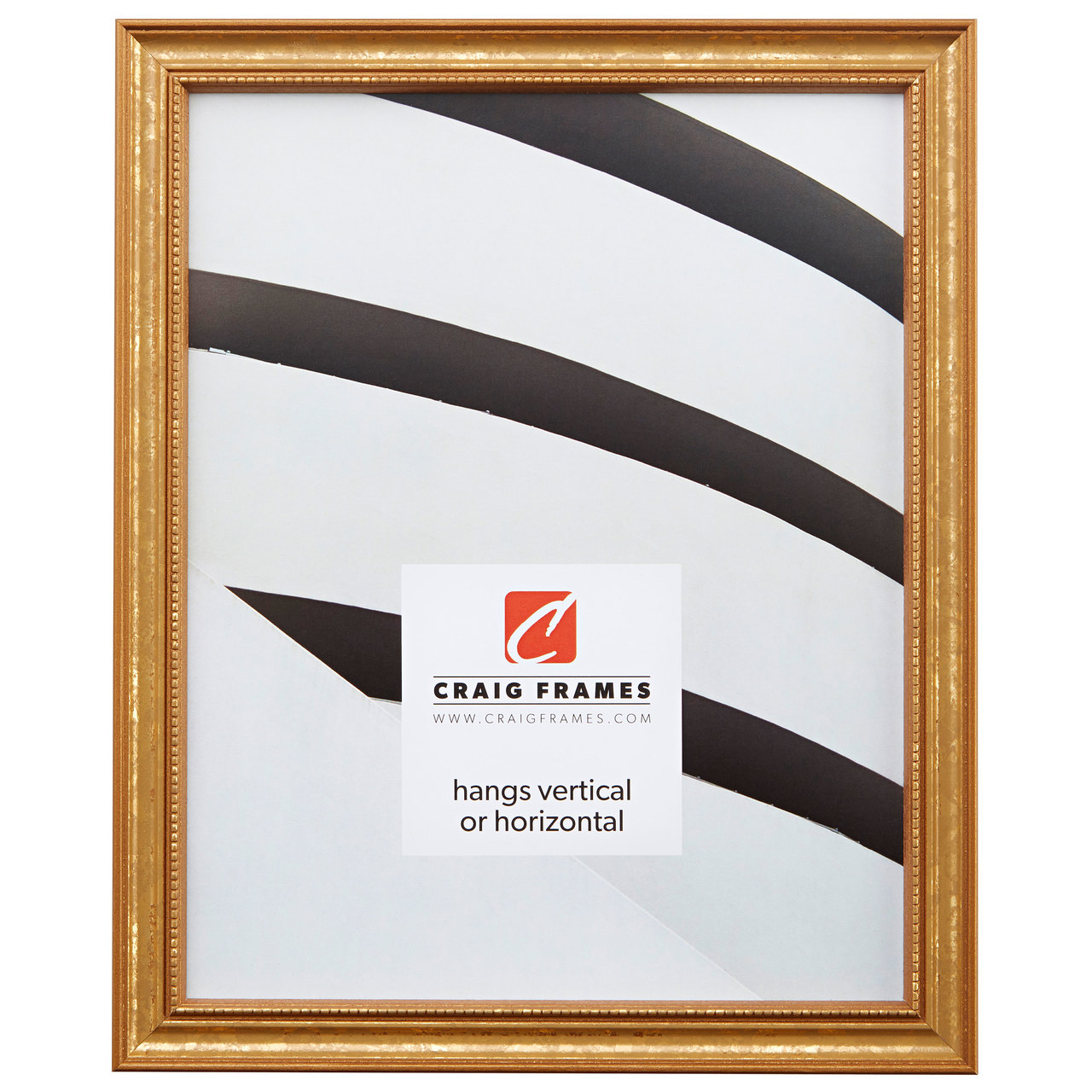"""Stratton 1.25"""", Aged Gold Picture Frame"""