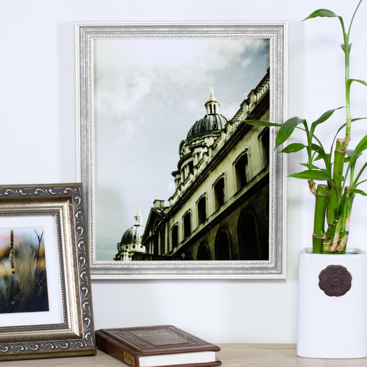"""Stratton 1.25"""", Antique White Picture Frame"""