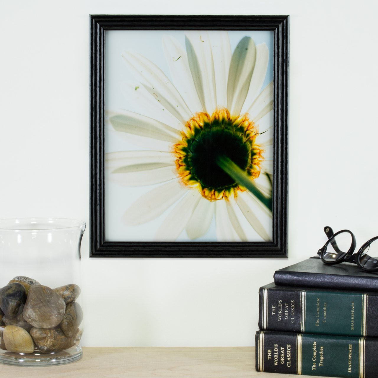 A simple hardwood picture frame that is affordable.
