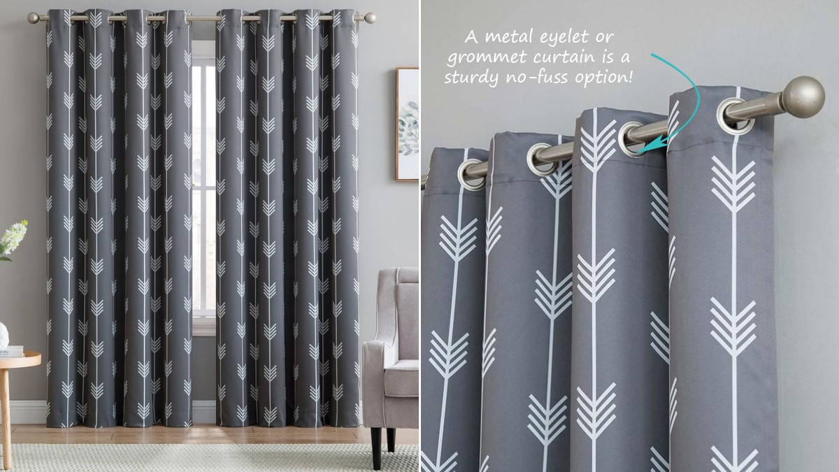 Arrows Patterned Thermal Blackout Window Curtains