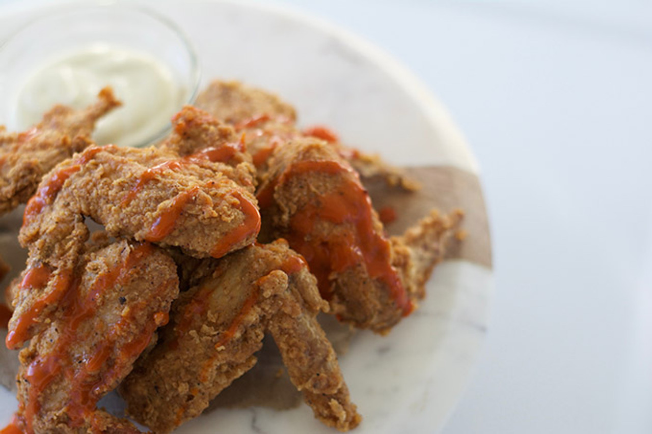 Organic Chicken Wings Cooked