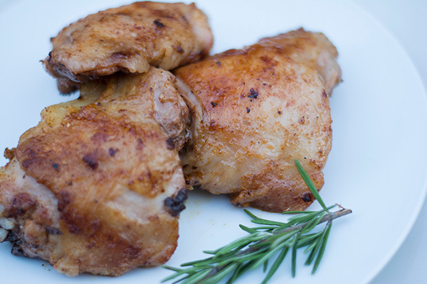 Cooked Organic Chicken Thighs