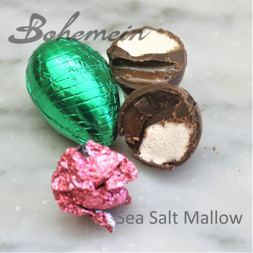 Bohemein Sea Salt-Mallow filled mini Egg.