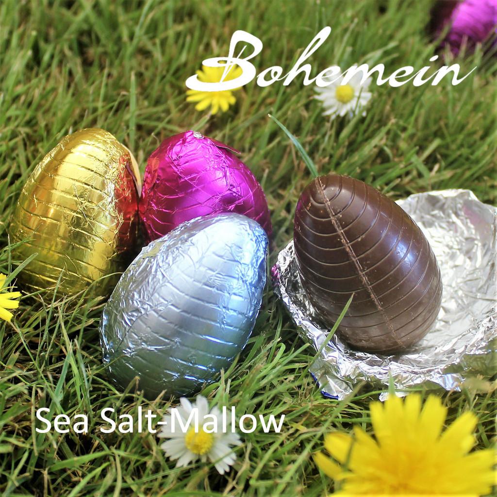 Bohemein Sea Salt-Mallow filled mini Egg.  Ready to Enjoy