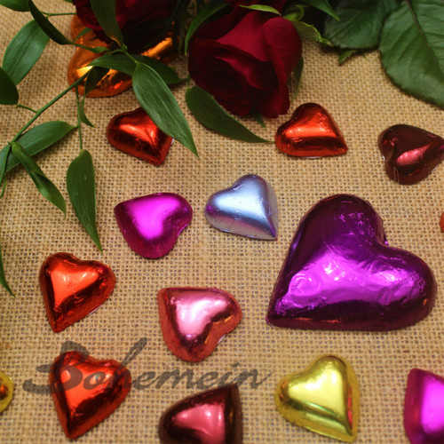 Bohemien Small Hand Foiled Hearts.