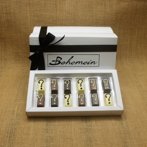 With Bohemein My Own Selection 12 chocolate  Gift Box you can add your personal touch, by making your own selection of 12  pieces from our complete range of chocolates.
