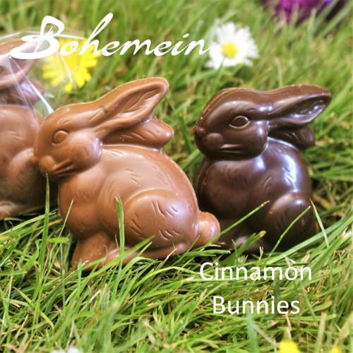 Bohemein Cinnamon Caramel Bunny .Our most popular Easter treat in Milk or Dark Chocolate