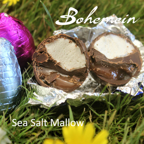 Bohemein Sea Salt-Mallow filled mini Egg.  Up close and personal.