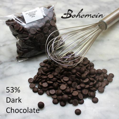 Dark 53% Chocolate Buttons  250 Grams