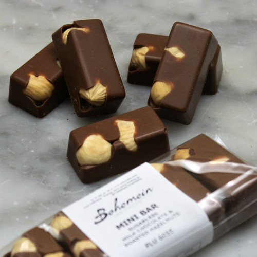 Bohemein Hazelnut Milk Chocolate Mini Bar