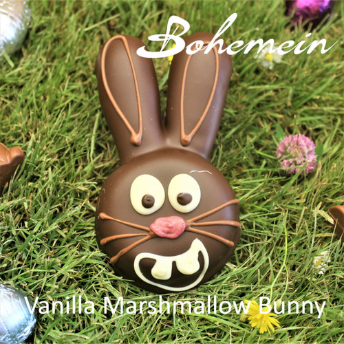 Bohemein Marshmallow Bunny. Cute as button and great addition to Easter hunt.
