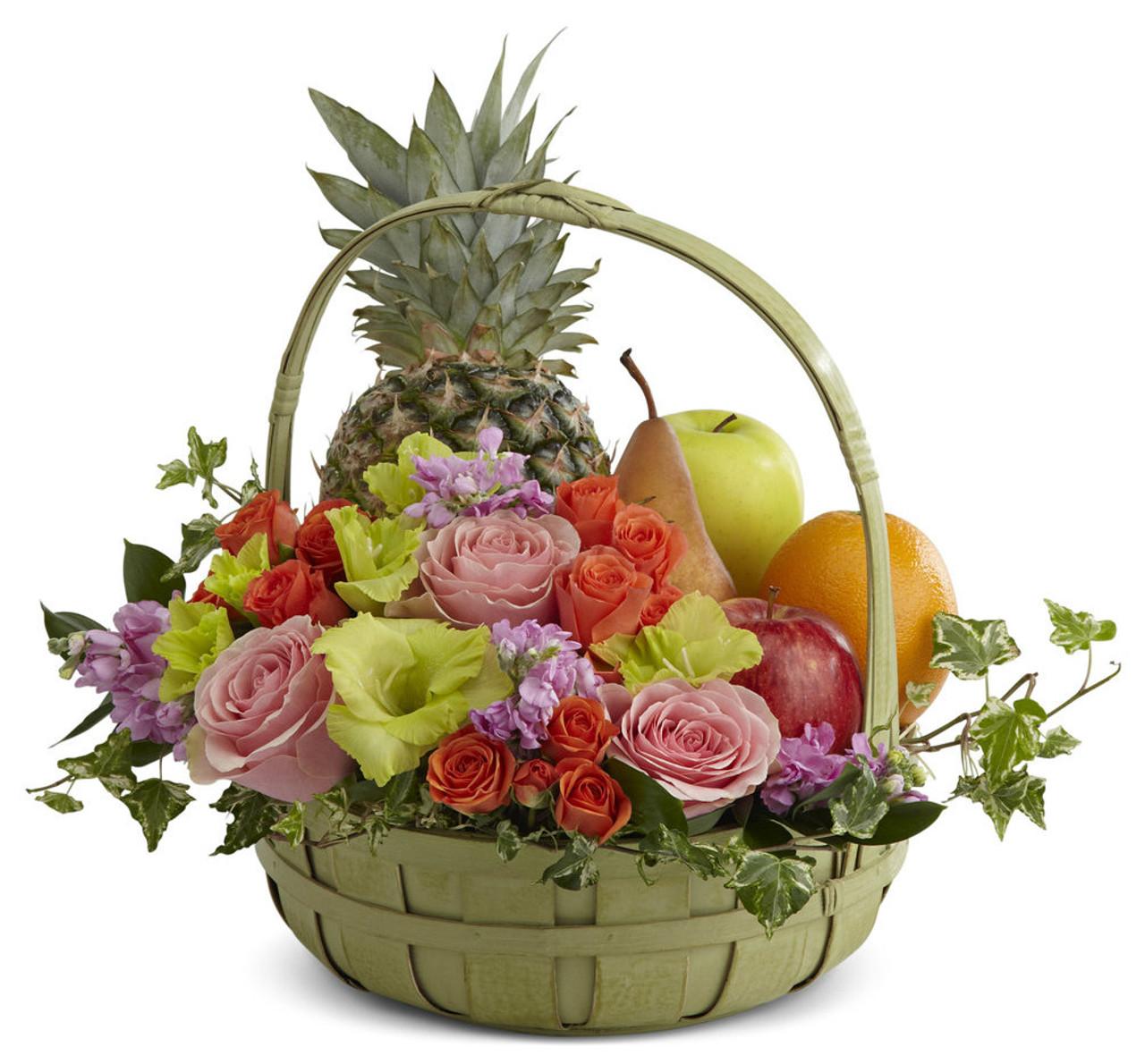 Rest In Peace Fruit Flowers Basket