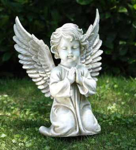 Superb Large Kneeling Praying Angel