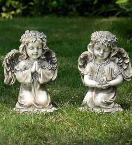Kneeling Angel Statues (Sold Separately)