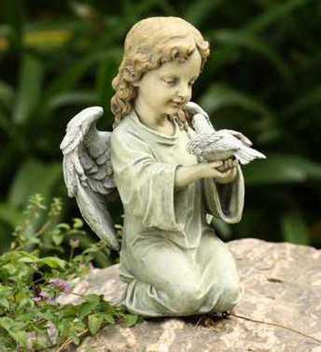 Kneeling Angel with Dove