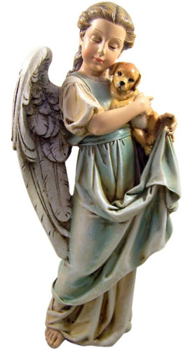 Angel and Puppy Memorial Statue