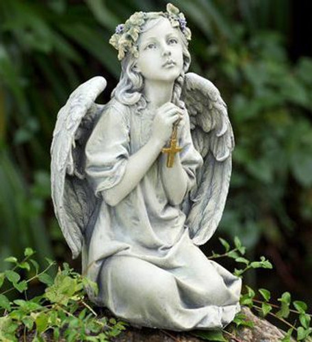 Paraying Angel with Cross