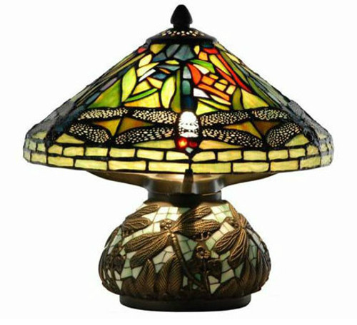 Mini Dragonfly Table Lamp with Mosaic Base
