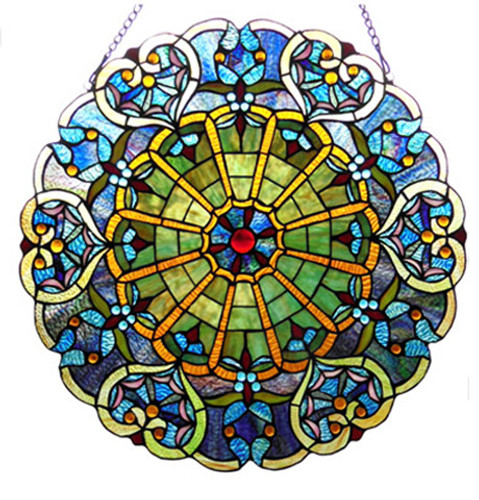 Webbed Heart Stained Glass Window/Wall Panel